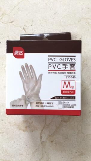 展艺烘焙工具 pvc手套 一次性手套 淡奶油裱花防油做月饼馅用 薄膜手套20只 晒单图