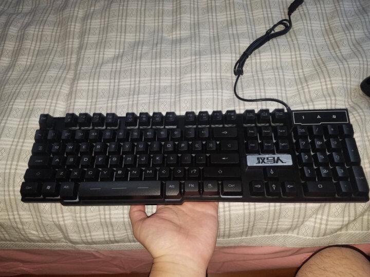 前行者游戏背光发光牧马人真机械手感键盘鼠标套装lol键鼠家用有线办公网吧外设电脑笔记本USB外接键盘 GX50黑色橙黄背光单键盘 晒单图