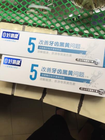 好易康生物牙膏清新口气改善口臭烟渍茶渍牙龈酸痛牙疼 5号祛除烟渍茶渍*2支 晒单图