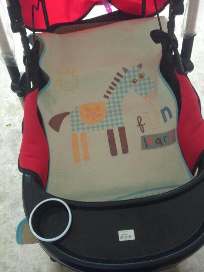婴蓓(INBER) 婴幼儿凉席幼儿园宝宝床席婴儿床凉席儿童可折叠席子冰丝枕头 热斗小马席枕 100*56 晒单图