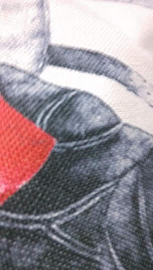 傻宝 创意中国风客厅沙发抱枕套 现代复古办公室水墨荷花靠垫 舒适棉麻靠枕腰枕 水墨荷叶45*45cm 晒单图