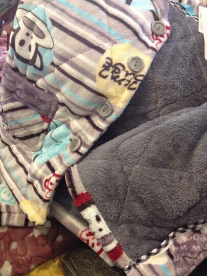 涵伊贝冬季男童法兰绒夹棉睡衣加厚保暖珊瑚绒男孩帅气家居服套装 圣诞宝贝 16码 150 晒单图