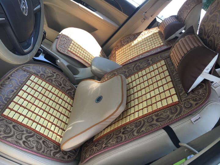 老垫家 夏季汽车座垫通用单片凉垫货车电动四轮车小车前排主副驾驶座垫套办公椅用坐垫 单人座-网布拼色竹片 晒单图