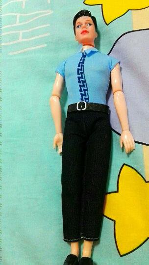 换装玩具娃娃穿衣娃娃男朋友14点全关节肯ken王子男孩娃娃 天蓝连体服 11关节王子送男鞋眼镜 晒单图