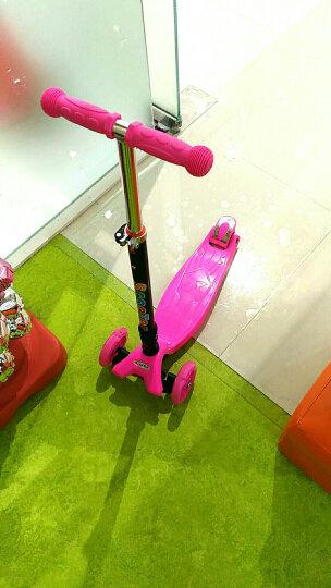 滑板车儿童四轮闪光静音轮高度可调男女小孩轮滑车滑滑车摇摆车扭扭车 拆卸款粉色 晒单图