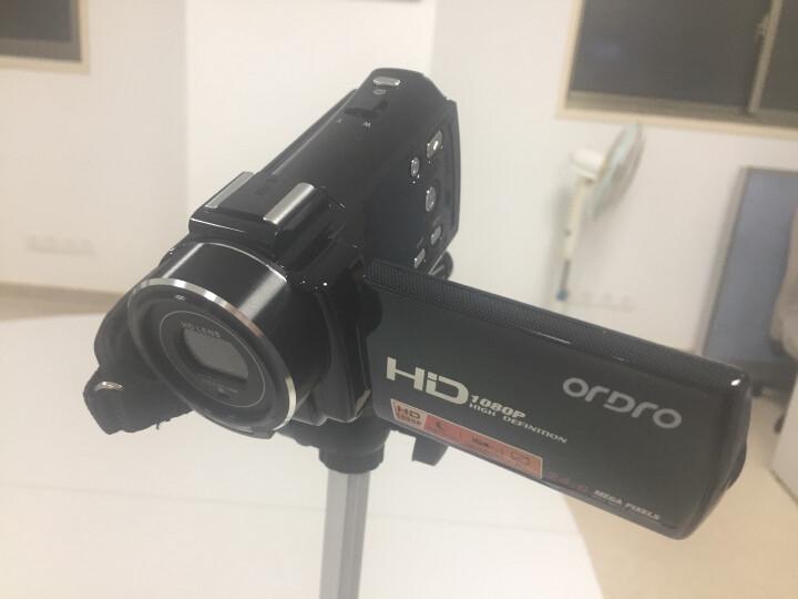 欧达 V7高清数码摄像机闪存DV1080p旅游家用2400万像素16倍变焦意大利名师设计 标配+32G+电池+三脚架+大礼包 晒单图