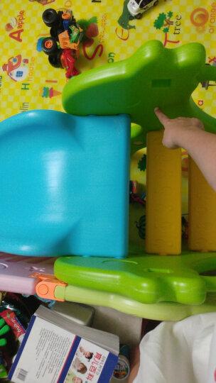 诺澳 儿童乐园室内滑梯家用多功能滑滑梯宝宝组合滑梯秋千带篮球架幼儿园玩具 长颈鹿吊杆款/粉色款(三合一)+球池+球200个 晒单图