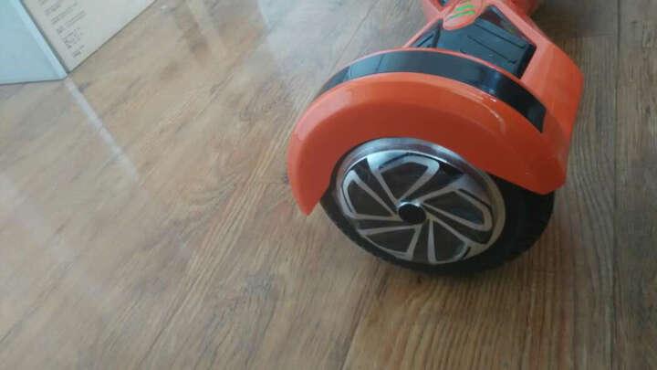 傲凤平衡车两轮儿童双轮电动车成人智能代步车 LED轮毂/8吋跑马灯/闪电黑 晒单图
