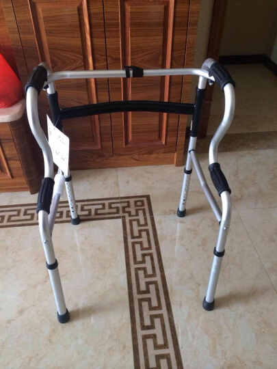 卫宜康 助行器 四脚老人轻便可折叠偏瘫中风脑梗塞康复训练器材坐便器马桶扶手起身可带轮带座学步车拐杖 带轮带座款D-送可替换杆 晒单图