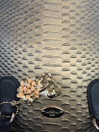 蔻驰 Coach 女式手提斜跨两用包大号贝壳包 F55449 黑 晒单图