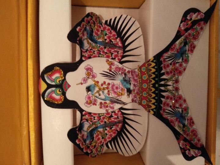 潍坊风筝袖珍摆件礼盒中国风特色礼品传统手工艺礼品下礼物 鸳鸯戏水-玻璃盒装 晒单图