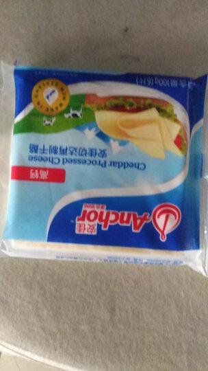 安佳(Anchor)切达再制干酪  芝士片 高钙 100g  新西兰进口(2件起售)烘焙原料 晒单图