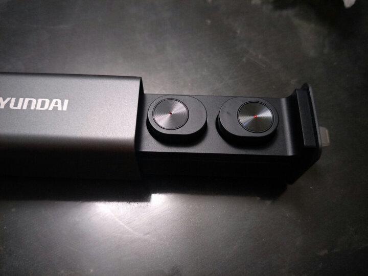 现代(HYUNDAI)GW10蓝牙耳机 无线运动迷你隐形双耳入耳式重低音TWS真无线商务蓝牙耳机 黑色 晒单图