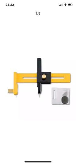 日本OLFA爱利华CMP-1圆规刀大型模型割圆刀薄型裁纸刀开孔器 CMP-1/DX刀 直径22cm 晒单图