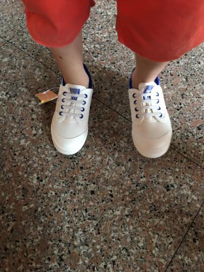 贝贝儿童帆布鞋镂空夏季男女童鞋大童小童布鞋低帮板鞋魔术贴潮学生球鞋 大红色 27 晒单图