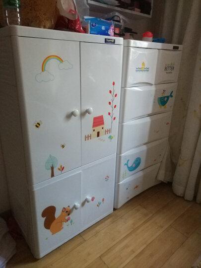 也雅收纳柜塑料整理柜置物衣橱收纳箱简易衣柜双开门 晒单图