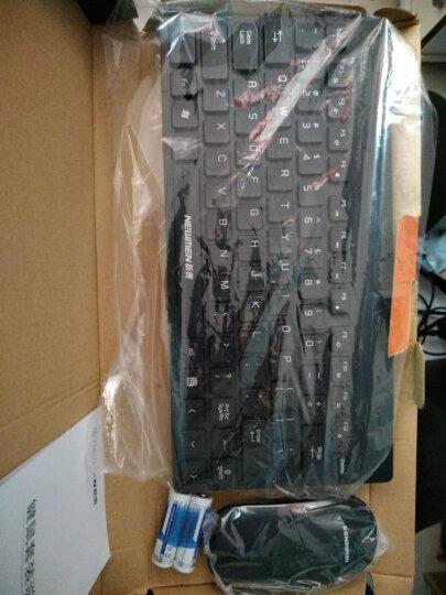 新贵(Newmen)无线键鼠套装K101 多媒体轻薄键盘 轻薄鼠标 黑色 晒单图