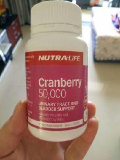 Nutra-Life纽乐蔓越莓胶囊美容养颜抗衰老预防妇科炎症50粒 澳洲进口 50粒/瓶  1瓶 50天量 晒单图