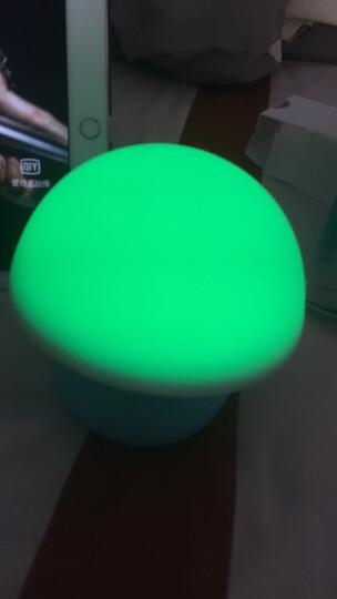 奥普(AUPU )LED小夜灯 蘑菇造型 触拍感应变光 马卡龙小夜灯 蓝色 晒单图