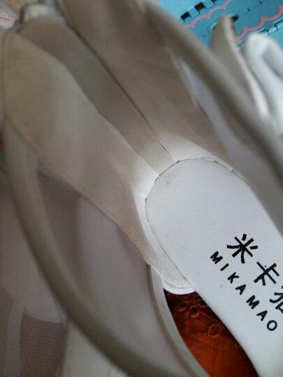 米卡猫女童凉鞋夏季2019新款高跟公主鞋女童鞋中大童小学生儿童鞋子女孩韩版鱼嘴蝴蝶结潮 白色 31码 晒单图