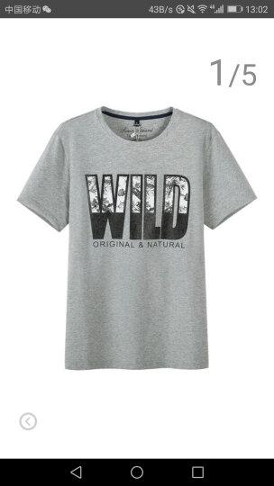 森马 Semir 短袖T恤 夏装半袖体恤男圆领韩版印花上衣 12216001224 漂白 M 晒单图