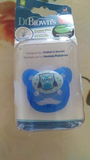 布朗博士(DrBrown's)美国进口婴儿安抚奶嘴 夜光蓝色/猫头鹰图案(12个月以上))PV31008 晒单图