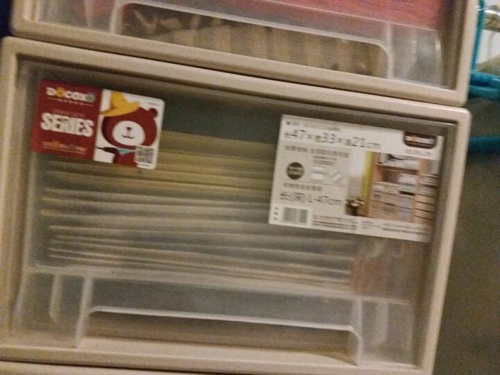 【3件7折】稻草熊抽屉式收纳柜透明塑料收纳箱衣柜储物箱衣物收纳盒儿童收纳整理箱衣柜收纳盒宝宝收纳 D3930(53*39*30cm)单个 晒单图