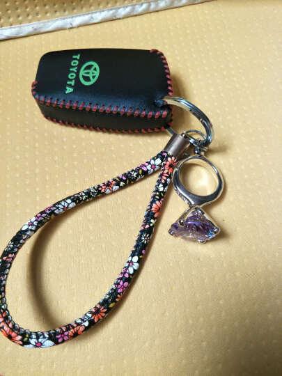 米勒斯 定制礼品创意钻戒钥匙扣女 水钻韩国可爱水晶车钥匙链挂件 生日礼物送老婆女生 紫色(定制) 晒单图