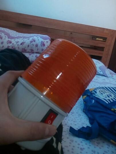 鹿途 汽车校车LED报警灯频闪灯 闪光信号灯警示 带开关 磁铁吸附 装电池 橙色强磁铁吸附 晒单图