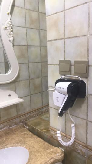 英特汉莎壁挂式吹风机浴室 家用护发大功率冷热风电吹风筒酒店宾馆卫生间干发器电吹风 9029黑色 晒单图