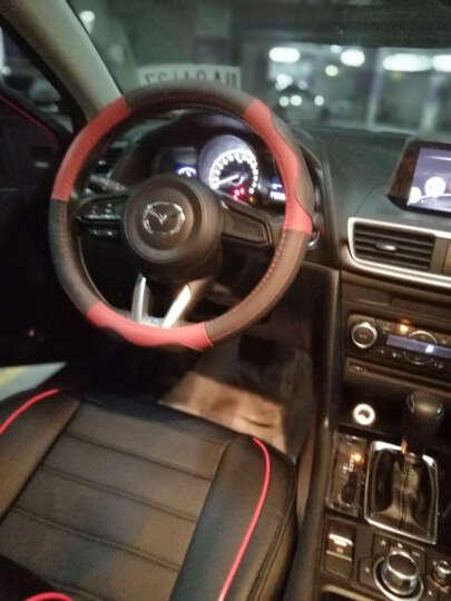 索瑞尔昂克赛拉方向盘套真皮马自达3星骋马自达6阿特兹CX-5睿翼CX4马2专用汽车把套M5M8塞拉 SR8189红黑色 牛皮方向盘套 晒单图