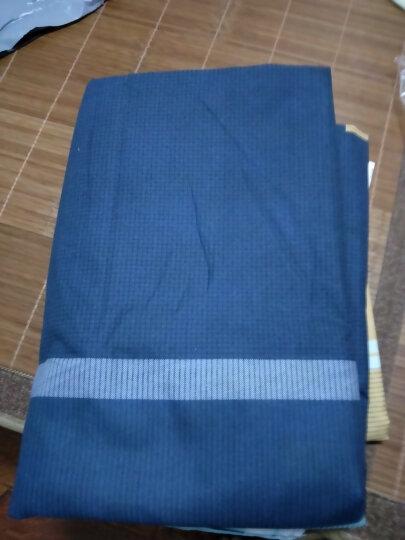 门扉 床单三件套 1.2米单人床上用品学生宿舍被套三件套单人床单被罩枕套床品套件 大蓝块 1m(3.3英尺)床 晒单图