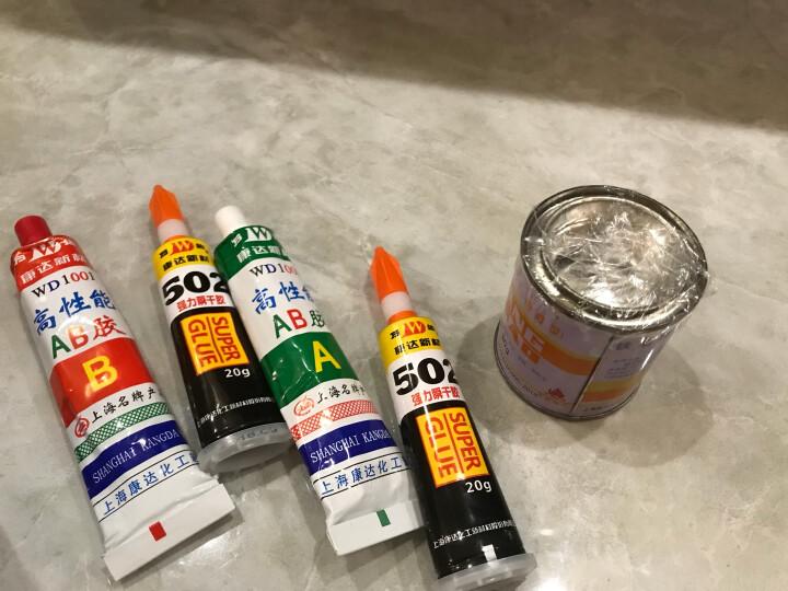 万达 上海康达新材WD1001高性能丙烯酸酯结构胶水 金属塑料陶瓷木材AB胶强力耐高温快干80g 10盒80g【立减10元】 晒单图