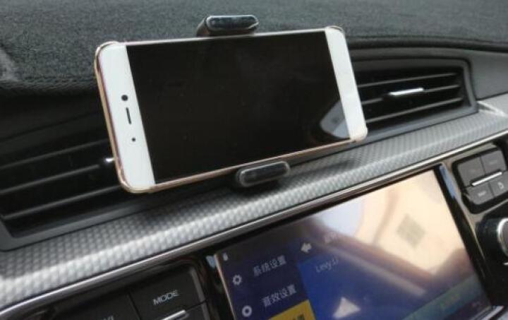 绿联 车载手机支架 汽车出风口卡扣式导航手机架子 车内360度旋转可伸缩手机夹 汽车用品手机座 30798 黑色 晒单图