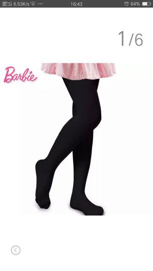 芭比(Barbie) 儿童连裤袜女童打底袜天鹅绒夏季丝袜长筒袜舞蹈袜薄款纯色 黑色 L码(适合9-12岁) 晒单图