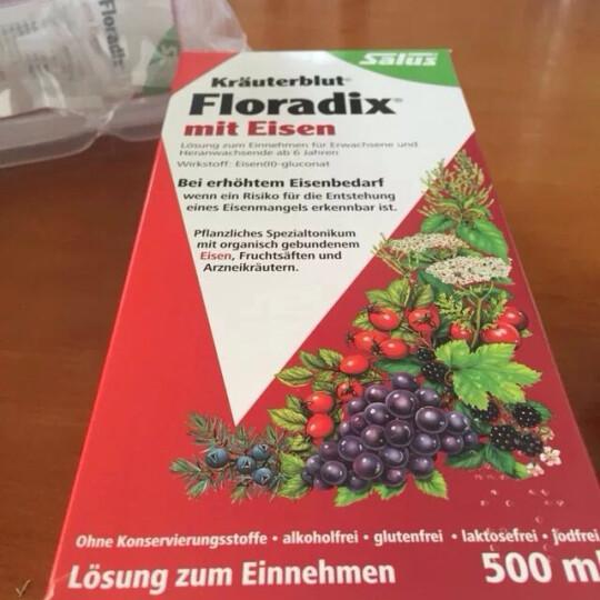 德国莎露斯salus Floradix铁元红版500ml孕妇补铁补血气营养液 晒单图