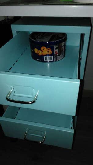 震海 办公家具 彩色六斗柜 文件柜 铁皮柜办公柜资料柜档案柜子 抽屉矮柜 六斗收纳柜 蓝色 690x280x410mm 晒单图