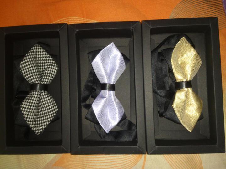 APROOM领结 英伦结婚庆新伴郎 男女士正装蝴蝶双层领带结送礼盒装APLJ384 B款 晒单图