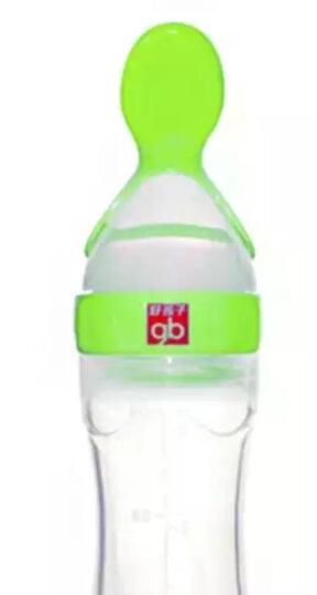 gb好孩子喂食器婴儿童离乳喂食器宝宝米糊奶粉喂食器硅胶带刻度辅食器 绿色 晒单图