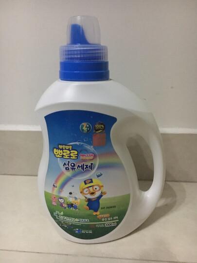 啵乐乐 韩国Pororo进口桶装中性植物洗衣液1000ml 浅蓝色 晒单图