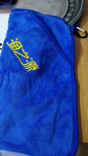 渔之源(Yuzhiyuan) 钓鱼毛巾轻柔擦鱼竿渔具抓鱼擦手巾不粘饵带扣 单层蓝色 晒单图