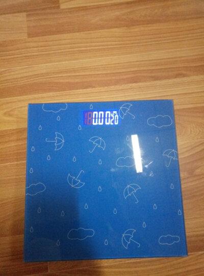 山鹰 SYE-903H-J 电子秤人体秤电子称体重秤家用室温斤两(幽蓝雨空) 晒单图