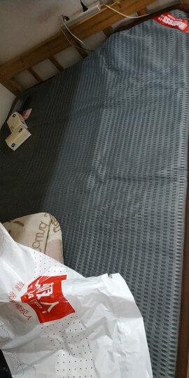 床垫 褥子 床垫子1.8m 床褥子 1.5m双人垫被学生宿舍床垫 榻榻米床垫 4D宽边灰色 90*200cm 晒单图