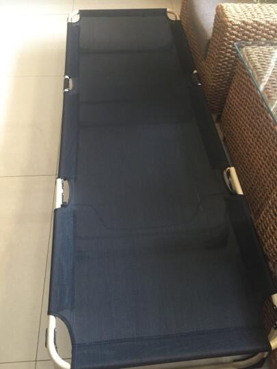 【骆驼】户外折叠床 单人床午休床透气办公室午睡床 躺椅简易床加固 黑色(加宽床面)方管床架+毯子 加固款(防侧脚垫+头部支撑) 晒单图