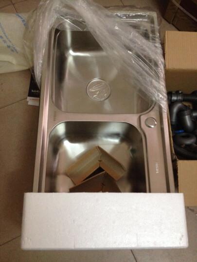 阿萨斯(ASRAS)8143 304不锈钢水槽洗菜盆双槽套装 配3051龙头 刀架款 晒单图
