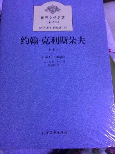 世界文学名著:约翰克里斯朵夫(套装上下册) 晒单图