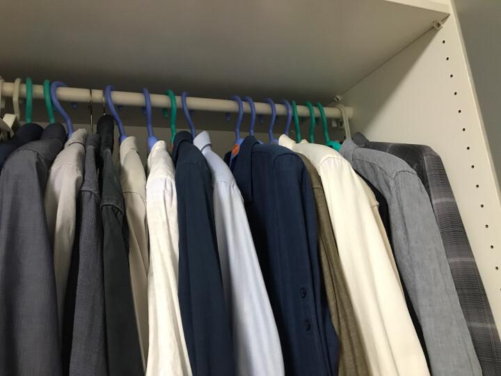 塑料衣架加厚无痕不起包西装大衣外套衣挂宽肩成人男女家用西服家居用品衣柜收纳整理衣撑10个装 绿色 晒单图
