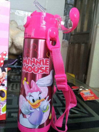 迪士尼(Disney) 儿童吸管杯 男女学生卡通宝宝便携保温水壶 52062米妮粉500ML 晒单图