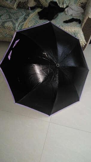 天堂伞小恶魔女防晒防紫外线雨伞三折叠学生遮阳晴雨两用太阳伞个性伞 紫色 晒单图