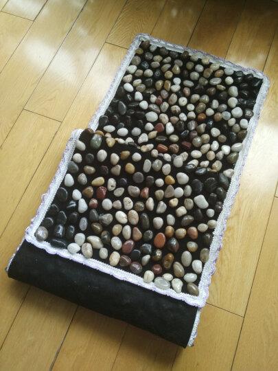 帝威 足底脚底按摩垫走毯 雨花石鹅卵石真石子路送礼孝敬老人健康礼品 大号密款黑色 晒单图